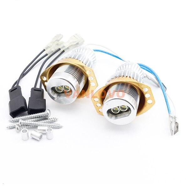 2x 10W Angel Eyes LED Marker for BMW E90 Sedan / E91 Estate PRE-FACELIFT Models With OEM Xenon Headlights<br>