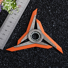 Creative Hand Spinner LOL Shadow Master Zed Shuriken High quality Zinc Alloy Weapons Keychain Model Kids Christmas Gift