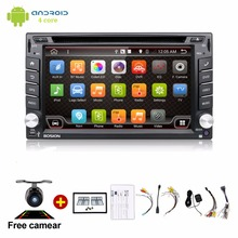 Android 6.0 Car DVD Stereo Fastest 2GHZ Quad Core Capacitive Multi-Touch Double 2 Din Car PC CD Stereo GPS TV BT WiFi 3G+CAMERA