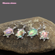 Personality fashion abalone shell turtle shape lady Earrings(China)