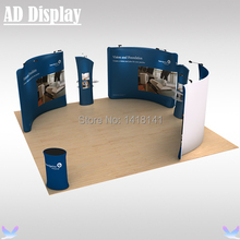 6m*6m Exhibition Aluminum Frame With Tension Fabric Printed Graphic,Trade Show Booth Advertising Pop Up Display Banner Stand