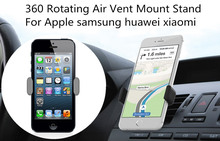 360 Degree Universal Car air holder conditioning outlet Mobile phone support car navigator holder Suitable for iphone samsung