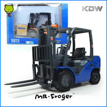 KDW Forklift Truck Model alloy car model Refined metal Engineering Construction vehicles truck Decoration Classic Toys For Boys