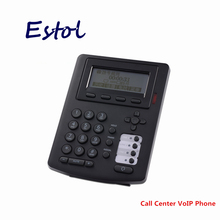 HD voice 3 SIP lines call center VoIP SIP Phone with RJ9 headset interface,Telephone traffic center IP Phone DHL Free shipping(China)