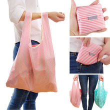 New Foldable Friendly Reusable Eco Storage Solid Color Travel Shopping Tote Grocery Bags NEW 35 * 58*8CM(China)