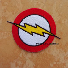 The Flash Super hero LOGO iron on patches biker vest patches TV the Whole embroidery appliques accessoriy wholesale(China)