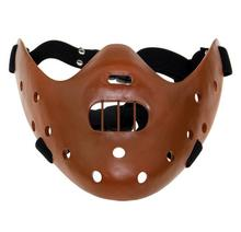 Big Discount! Film Movie The Silence of the Lambs Hannibal Lecter mask Masquerade Halloween cosplay dancing party half face mask