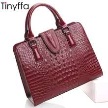 Tinyffa Women Bag Female Shoulder Bag Handbags Women Famous brands Genuine Leather Bag Ladies Crossbody Messenger Bags Crocodile(China)