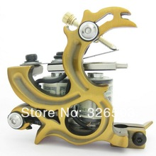 One 10 Wrap Coils Aluminum Alloy Frame Tattoo Machine Gun For Kit Set Supply DTM08-D(China)