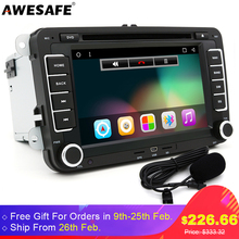 AWESAFE 2 Din Quad core Android 6.0 Car DVD Player 1024*600 for VW/Passat/POLO/GOLF 5 6 Bora JETTA TIGUAN 3G FM GPS Stereo Radio(China)