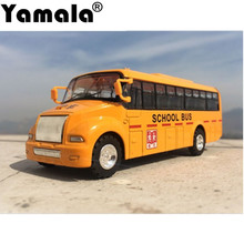 [Yamala] Emulational Car Model Toys, Classic School Bus, Brinquedos Miniature Pull Back  car toys for children