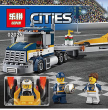 Lepin 02025 360Pcs City Series The High Speed Racer Transporter Set Children Educational Building Blocks Bricks Toys With 60151(China)