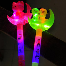 2017 Cartoon Light Sticks LED light Children's Toys Hammer Handheld Rods Gift Christmas Birthday  Glow Wand  Halloween