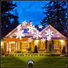 Waterproof laser snowflake projector Moving Snow White/RGB Lamps LED Stage Light Christmas Landscape Light Garden Outdoor