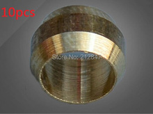 10pcs 4mm Hole Dia Brass Compression Sleeve Ferrule Ring(China)