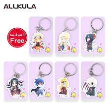 Naruto acrylic Keychain Action Figure Key Ring Pendant Accessories Minato Uchiha Madara Akatsuki Collection Custom LTX1(China)