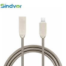 Buy Sindvor 1m Metal Spring Micro USB Cable Data Sync Samsung Xiaomi Android Mobile Phone Fast Charge Microusb Charger Wire for $2.39 in AliExpress store