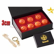 [PCMOS] Japanese Anime DragonBall Z Seven Stars Ball Necklace Keychain Cosplay Model Toy Collection Set with Gift Box 17030422