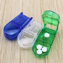 Mini Hot Sale Useful Portable Storage Box Medicine Pill Holder Tablet Cutter Splitter Color Random