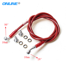 Motorcycle Dirt Bike aluminium Hydraulic Reinforce Brake line Clutch Oil Hose Tube 500 To 2300mm Universal Fit Racing MX