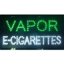 new arrival custom neon signs led neon vapor e-cigarettes sign eye-catching slogans board