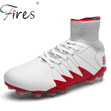 Fires Big Size Soccer Shoes Men Boots Long Spikes Professional Brand Football Shoes Boot Hight Quality Sport Sapatos de futebol(China)