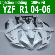Injection molding for YAMAHA R1 fairing kit 2004 2005 2006 all glossy white fairings set 04 05 06 YZF R1 MX19(China)