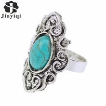 2017 Fine Jewelry Classic Ring Royal Style Noble Big Rings Fashion For Women Alloy Color Green Stone High Quality