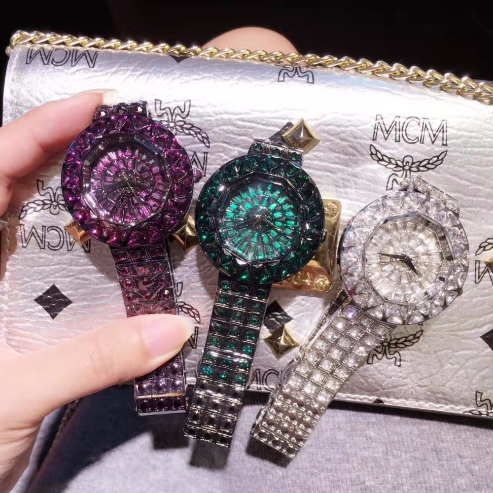 Top Quality New Style Women Watches Luxury Steel Full Rhinestone Watch Lady Crystal Dress Watches montre femme reloj mujer<br>