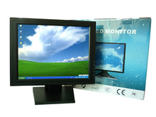 USB Panel Wholesale Black 17 inch LCD TFT Touch Screen Monitor Desktop Monitor Full Function Touch Panel for PC