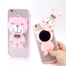 Buy Fashion Cartoon Cute Mirror Soft Silicone Phone Case Apple Iphone 7 Case Royal Luxury back Cover 4.7 inch iphone7 for $4.41 in AliExpress store