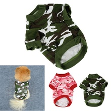 Factory Price Camo Clothing Hoody Apparel Doggy Camouflage Coat T-shirt Ropa De Verano Para Perros Pet Cat Dog Clothes Summer