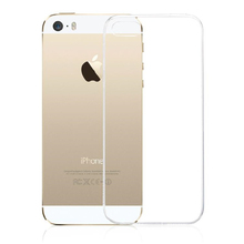 For iPhone 5S 5 SE Crystal Clear Transparent TPU Gel Soft Case Cover