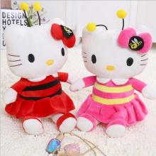 Baby stuffed toy Bees KT cat Hello Kitty doll girl birthday gift children Plush toy Christmas doll