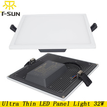 New Design Led Panel Downlight 32W Ultra Thin Square LED Ceiling Recessed Light AC85-265V LED Panel Light SMD4014 Driver Include