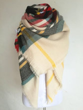 za Winter 2017 Tartan Scarf  Plaid Scarf New Designer Unisex Acrylic Basic Shawls Women's Scarves Big Size blanket scarf