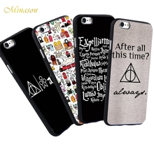 Minason Phone Case For iPhone X 8 5 S 5S SE 6 6S Plus 7 Case Harry Potter Quotes After All This Time Always Black TPU Soft Cover(China)