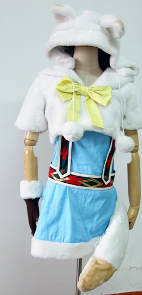 Love Live! Ayase Eli Fox Animal Customized Uniforms Cosplay Costume Free Shipping
