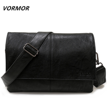 VORMOR Brand Casual Envelope Handbag Bags Men's Leather Shoulder Crossbody Bag Business Satchel Men Messenger Bags(China)