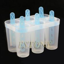 4/6 Frozen Freezer Lolly Yogurt GR Ice Cream Maker Juice Popsicle Mould Molds A13633