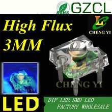 High flux Blue 3mm Piranha led 465-475nm 4-legs led diode 3.0-3.5V 15-20mA(CE&Rosh)