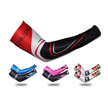 1 Pair High Elasticity Colorful Cycling Arm Warmer Riding Protection Arm Sleeve Breathable Arm Warmers Sport Accessories(China)