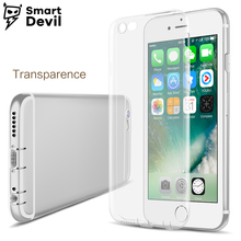 SmartDevil Ultra Thin Soft transparent TPU Case For Apple iPhone 6 6s Plus silicone Case back Cover mobile Phone Bag slim shell(China)