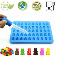 HARKO 2017 Fashion Cake Tools Mold 1 Set 50 Cavity Silicone Gummy Bear Chocolate Mold Candy Maker Ice Tray Jelly Moulds