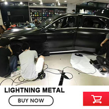 2017 hot Car styling 1.52mx20m black lightning vinyl wraps for car body film roll auto foil decoration by free shipping(China)