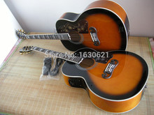 2015 New + Factory + Chibson J200 acoustic guitar, J200 acoustic electric guitar good quality & free shipping(China)