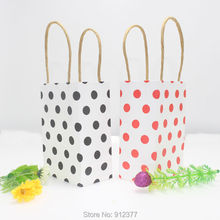 New Year Gift Bags With Handles Wrapping Supplies 20pcs/lot Gift Bag Paper Candy Box Wedding Decoration Gift Bags For Jewelry