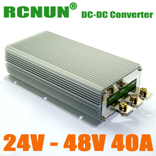 DC/DC Converters, Max 2000W Power Output Car Power Converter 24V 20-35V to 48V Step-up Voltage Regulator
