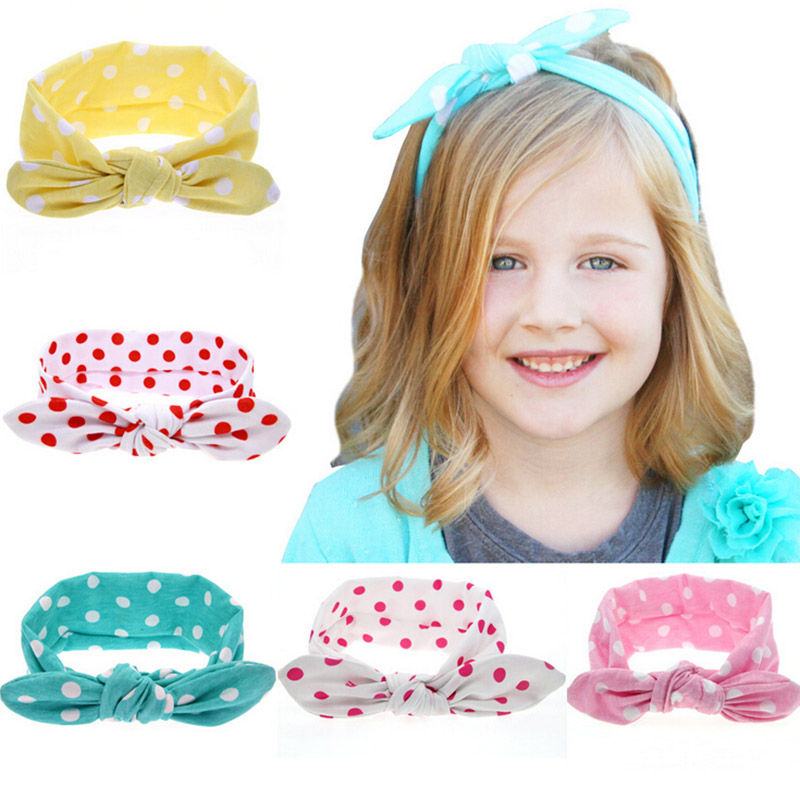1 PCS Fashion Baby Girl Dot Knot Headband Newborn Infant Hair Accessories Children Toddler Kids Elastic Bowknot Hair Bands<br><br>Aliexpress