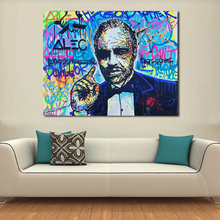 QCART The Godfather For Alec Monopoly Graffiti Art Print Canvas For Wall Art Decoration Wall Painting Picture No Frame(China)